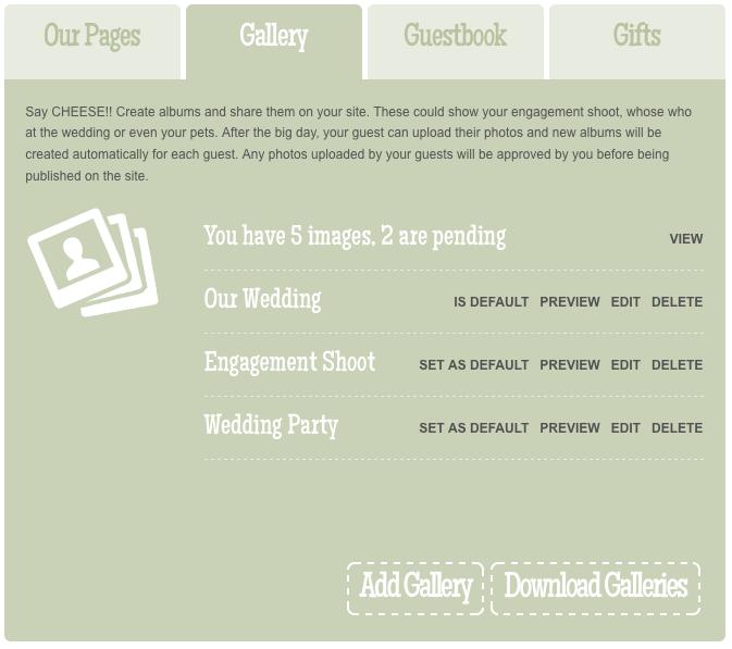 Paperless Wedding Tip – Photo Gallery