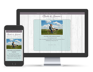 Paperless Wedding Website Boho Template