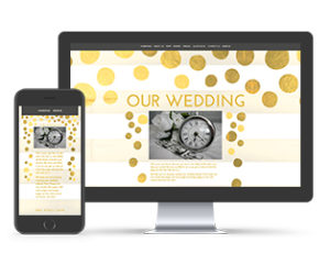 Paperless Wedding Website Dotty Over Your Yellow Template