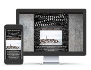 Paperless Wedding Website Chic Template