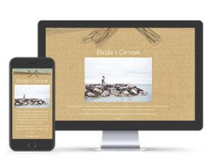 Paperless Wedding Website Hessian Template
