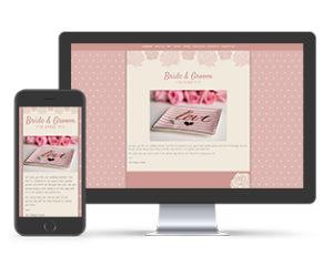 Paperless Wedding Website Dotty Pink Template