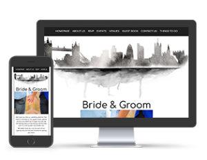 Paperless Wedding Website London City Skyline Template